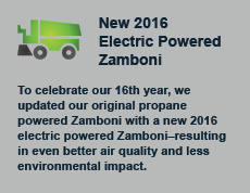 To celebrate our 16th year, we updated our original propane powered Zamboni with a new 2016 electric powered Zamboni–resulting in even better air quality and less environmental impact.